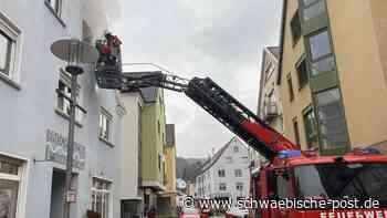 Feuerwehreinsatz in der Bopfinger Hauptstraße.   Bopfingen - Schwäbische Post