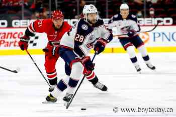 Hamilton's OT goal lifts Hurricanes past Blue Jackets