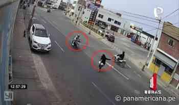 Moto a toda velocidad atropella a mujer en Huacho   Panamericana TV - Panamericana Televisión