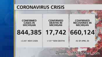 Health Officials Report 3431 New Coronavirus Cases, 131 Deaths - 9 & 10 News - 9&10 News