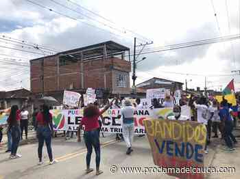 Puerto Tejada marcha en el Paro Nacional contra la Reforma Tributaria – - Proclama del Cauca