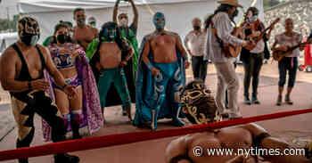 Lucha libre, yoga y baile: bienvenidos a los centros de vacunación de Ciudad de México