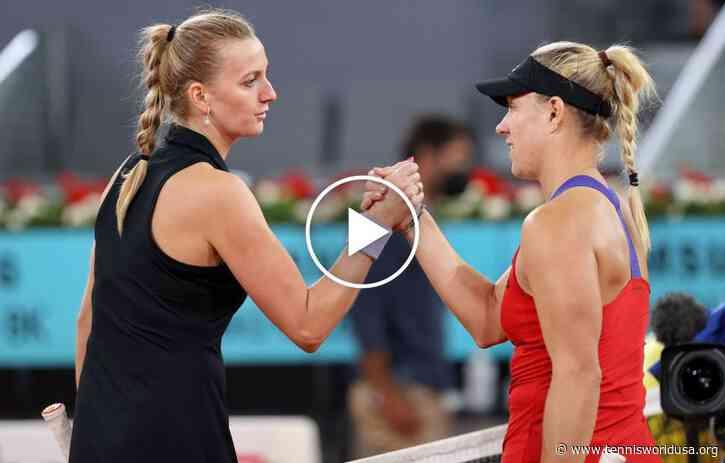 WTA Madrid 2021: Petra Kvitova vs Kerber's HIGHLIGHTS