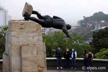 Indígenas colombianos derriban por segunda ocasión una estatua de Sebastián de Belalcázar - EL PAÍS