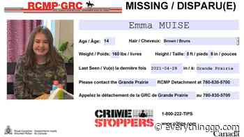 UPDATE: Missing Grande Prairie teen found safe - EverythingGP