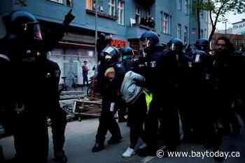 Dozens of German police injured in May Day riots