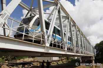 População de Cabo do Santo Agostinho recebe ponte ferroviária - Portal Brasil