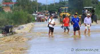 Lambayeque: tránsito interrumpido en Chongoyape tras activación de quebrada - El Comercio