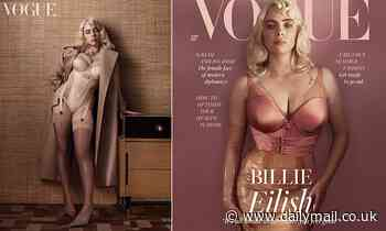 Billie Eilish admits she feels 'more like a woman' with blonde hair in stunning British Vogue shoot