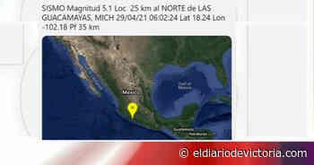 Se registra sismo magnitud 5.1 en Las Guacamayas, Michoacán - El Diario de Ciudad Victoria
