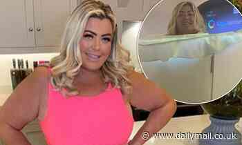 Gemma Collins strips off to submerge herself in cryotherapy chamber with temperatures of -188°F
