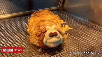 Colin the Caterpillar gets Scottish chippy treatment