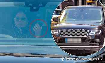 Janet Jackson caught holding her phone while behind the wheel of her£80,000 car in London