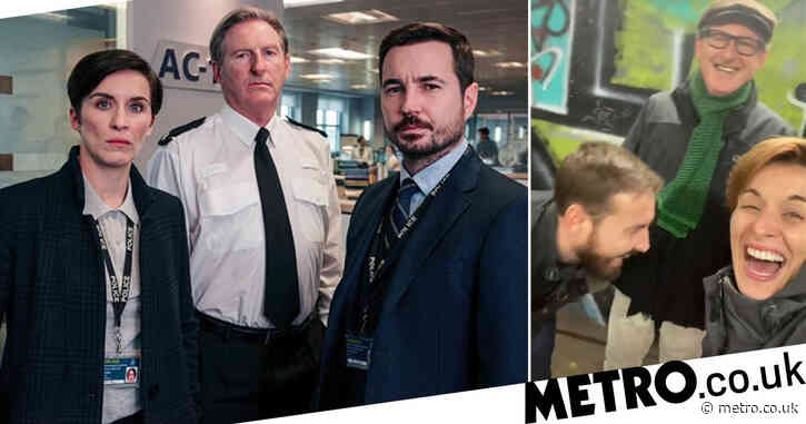 Line Of Duty's Vicky McClure, Martin Compston and Adrian Dunbar singing in an underpass will make your day