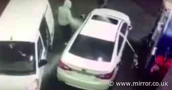 Driver turns tables on 'thieves' and sprays them with petrol to thwart robbery