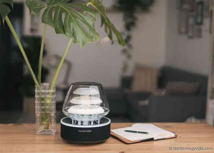 HaloFalls combines a mood light, water and sound for relaxation