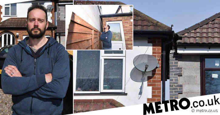 Man furious after neighbour's extension leaves their homes inches apart
