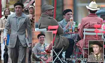 Rocco Ritchie is a dead ringer for Frank Spencer as he steps out in London