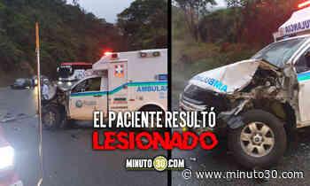 ¡Terrible! Ambulancia sufrió un accidente en Yarumal - Minuto30.com