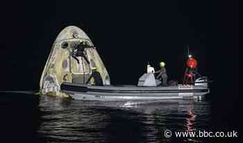 SpaceX ISS mission: Night-time splashdown for four astronauts