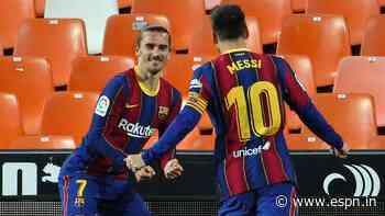 Valencia vs. Barcelona - Football Match Report - May 3, 2021 - ESPN India