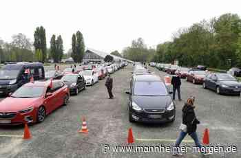 Im Autokorso zur Mai-Kundgebung - Mannheimer Morgen