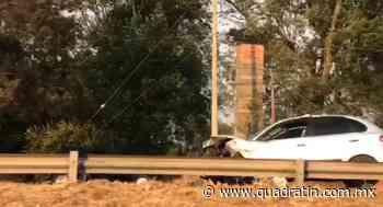 Dos lesionados, saldo de choque en la Morelia-Zacapu - Quadratín - Quadratín Michoacán