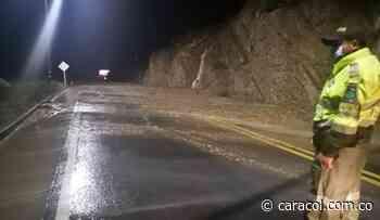 Cierre total en la vía Chiquinquirá -Tunja por deslizamientos - Caracol Radio