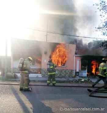 Se incendió una vivienda en Salto de las Rosas - Diario San Rafael