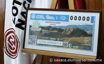 Reconocen y difunden la grandeza de la zona arqueológica de Monte Albán en un billete de la Lotería Nacional   Oaxaca - El Universal Oaxaca