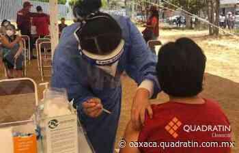 Aplican segunda dosis anticovid en Tuxtepec y Guadalupe Etla - Quadratín Oaxaca