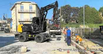 Assainissement à Dinard : les travaux se poursuivent dans la partie haute de la rue de la Gare - Le Télégramme