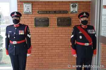 Two fallen officers honoured by local police during Ceremony of Remembrance