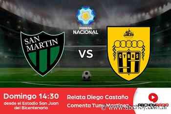 San Martín (SJ) vs. Santamarina, en vivo por ABChoy Radio - ABCHoy