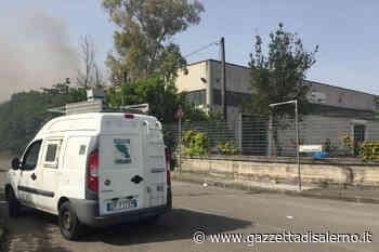 Incendio di Nocera Inferiore, primi risultati del monitoraggio delle diossine da parte di Arpac. — Gazzetta di Salerno - Gazzetta di Salerno
