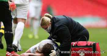 """Consett player Jake Orrell """"fine"""" after sickening head injury during FA Vase final"""