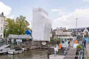 Opvallend beeld: is kunstenaar Christo aan de slag in Gent?