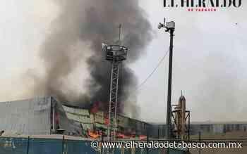 Arde bodega en el ingenio Santa Rosalía en Cárdenas - El Heraldo de Tabasco
