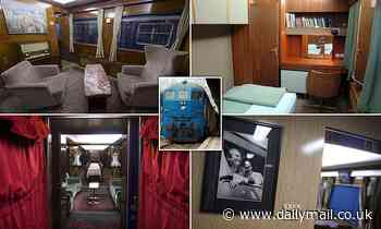 Inside time capsule train used by Yugoslavian ruler Josip Broz Tito