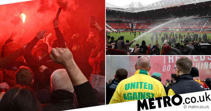 Man arrested after six police officers injured in Manchester United protest