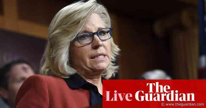 Republican Liz Cheney says Trump's election 'big lie' poisons democratic system – live