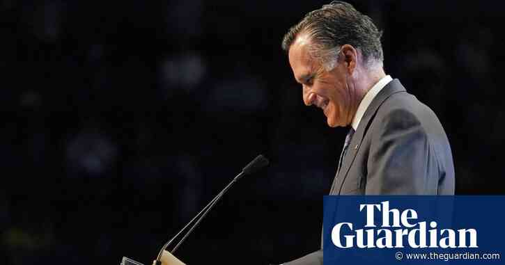 Mitt Romney booed while speaking at Utah Republican convention – video