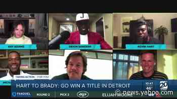 Kevin Hart challenges Tom Brady to go win a title in Detroit - Yahoo News