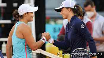 Barty reveals classy message to rival after incredible hot streak continues