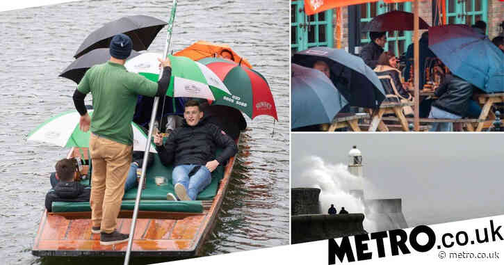 Wet and windy week ahead after coldest May Bank Holiday ever recorded