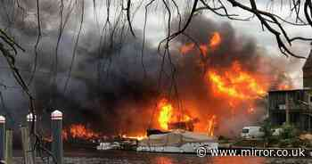Historic boat used in Dunkirk evacuation destroyed in huge Thames boatyard fire