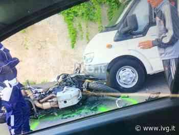 Scontro tra un camper e una moto sull'Aurelia a Spotorno: due feriti - IVG.it