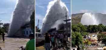 Tubería matriz de agua se fracturó en Santa Teresa del Tuy - La Razón