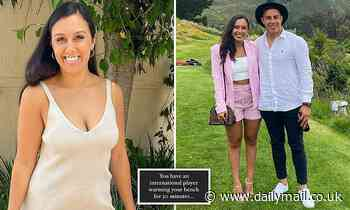 Footy star's glamorous wife lashes out at coach - as three rival clubs circle the Kiwi international