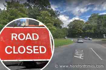 Fallen tree closes Herefordshire main road